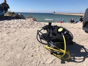 profesjonalny sprzęt do nurkowania